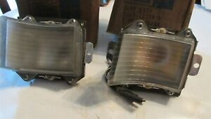 NOS 1966 FORD GALAXIE LTD XL 7-LITRE COUNTRY SQUIRE FRONT PARKING LIGHTS LAMPS