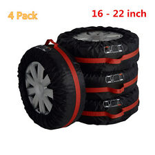 "4pcs Carry Tote Storage Bag For 16""-22""Tyre Seasonal Spare Tyre Protection Cover"