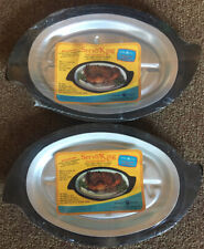 Vintage Nordic Ware Servo King Platter Holder Set #310 Brand New 2 Platters