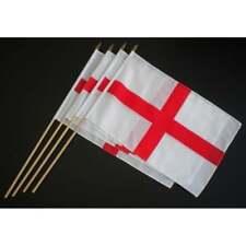 FOUR England St George Hand Flag slim stick Pack of 4 FOUR