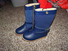 RARE NEW NWT JANIE AND JACK 8 BLUE BOOTS GALLERY MUSE GORGEOUS