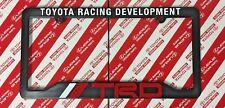TOYOTA TRD RACING DEVELOPMENT LICENSE PLATE FRAME BLACK RED & WHITE NEW
