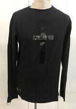 Black SDL Heavy Cotton T Shirt  With Pvc Cross  M