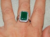 VERDE ONYX & NATURAL CAMBODIAN LARGE RING-SIZE P-7.150CTS-WITH PLATINUM