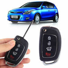 For HYUNDAI ix35 Santa Fe i30 Replacement Flip Key Shell Remote Key 4 Button