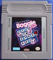 Boggle Plus Original Game Boy Cartridge Nintendo GBA GB GBC Advance SP