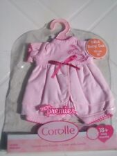 COROLLE..VETEMENTS  NEUF...POUPEE BEBE 30CM.....robe rose.....ANNEE 2008