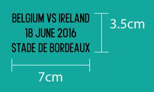 BELGIUM VS IRELAND EURO 2016 Group Stage Belgium Home 2016 Jersey Match Details