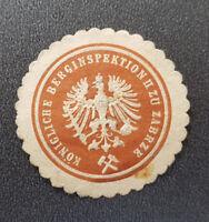 Siegelmarke Vignette KÖNIGLICHE BERGINSPEKTION II ZU ZABRZE (8144-3)