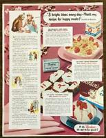 1951 Borden's Dairy Products Print Ad Elsie Elmer Cow Sundae Sandwiches Cereal