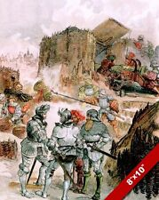 SIEGE OF MEZIERES FRENCH ITALIAN WAR PAINTING HISTORY ART REAL CANVAS PRINT