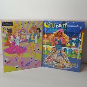 Lot of 2 Barbie 100 Piece Jigsaw Puzzles Sealed 1980s 90s Dancing Fancy Dress