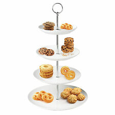 3 Tier Glass Ceramic Slate White Round Display Cake Stand Food Platter Rack Gift 1 X Whisk Mixer