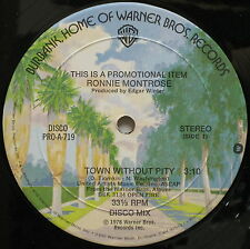 """RONNIE MONTROSE Town Without Pity 1978 US Promo Only Disco Mix 12"""" Edgar Winter"""