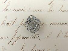 Superbe Monogramme en ARGENT massif  L V , V L initiale, shabby Art nouveau 1,2c