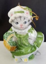 1988 SCHMID CERAMIC KITTY CUCUMBER IRISH LASS ORNAMENT