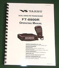 Yaesu FT-8800R Operating Manual,  Premium Card Stock Covers & 28 LB Paper!