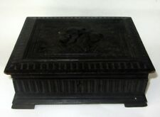 ANCIENNE BOITE A BIJOUX en BOIS FORET NOIRE ANTIQUE BLACK FOREST JEWELRY BOX
