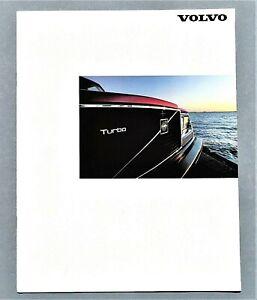 "ORIGINAL 1983 VOLVO FULL LINE SALES BROCHURE ~ 8 PAGES ~ 8.5"" X 11"" ~ 83VOLVFL"