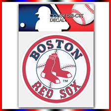 "Boston Red Sox #1 MLB Die Cut Vinyl Sticker Car Bumper Window 4""x4"""