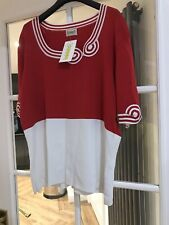 Roman Originals Red/White(Ivory) Short Sleeved Top Size XL - RRP £40.00 - BNWT