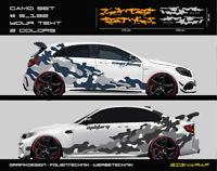 Camo Set Camouflage Seitenstreifen Autoaufkleber - 2-farbig/Text - #5_132 -3