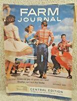 Vintage October 1960 Farm Journal Magazine Volume 84 Number 10 Central Edition