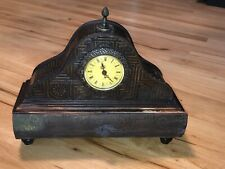 Antique Quartz Style Wood Shelf Mantle Clock Napoleon Hat Decor Quartz Drawer