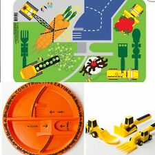 Constructive eating Plate, Cutlery& Placemat Set