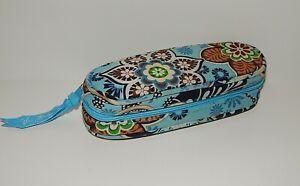 Vera Bradley Blue Patterned Zippered Fabric Soft Eye Glass Case