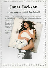 "JANET JACKSON ""ALL FOR YOU"" RARE PROMO CD SINGLE +1 PROMO PAGE INFO SHEET SEALED"