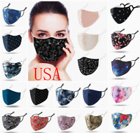 Cotton Face Mask Fashion Soft Reusable Washable Breathable Cloth Covering Unisex