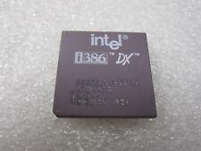 Rare Vintage Gold Ceramic CPU Intel A80386DX-33 IV SX544