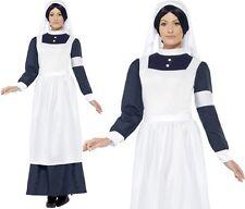 Large Women's Great War Nurse Costume - Dress Fancy Ladies Outfit Adult Ww1