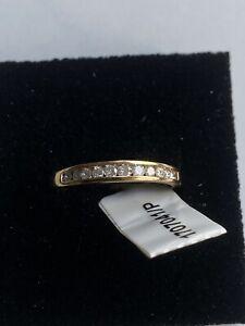 18ct gold diamond eternity ring Size P RRP£499