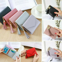 Women Small Short Money Purse Wallet Ladies Leather Folding Coin Card Holder