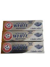 Arm & Hammer Advance White Toothpaste. 3 X 75ml Tubes