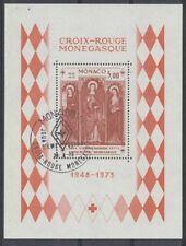 MONACO bloc 7 - CROIX ROUGE de 1973 ** OBLITERE 1er JOUR