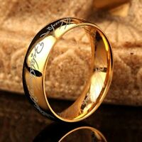 Fashion Lord of the Rings The One Ring Lotr Stainless Steel Men's Ring Size 6-12