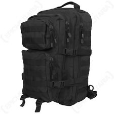 LARGE ONE STRAP Molle Pack Assault Bag 22L BACKPACK Tactical Army Black