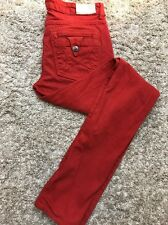 Peoples Liberation Anthropologie tomato red Womens skinny Pant jeans Sz 28 X 33