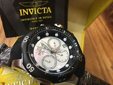 22356 Invicta 52mm Venom Sea Dragon Quartz Chrongraph White MOP Dial Strap Watch