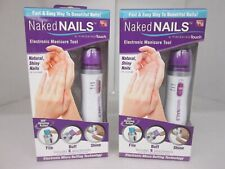 2 AS SEEN ON TV NAKED NAILS ELECTRONIC MANICURE TOOL 6 ATTACHMENTS EACH AP 1985
