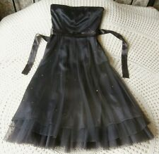Party dress by VILA Size 8 - 10 Labelled S Brown with grey tinge Sequin trim