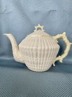 Belleek Ireland Irish Yellow Limpet Teapot Excellent Condition Green Mark