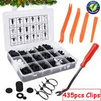 435Pcs Car Retainer Clips Plastic Fasteners Push Pin Trim Clips Rivet Bumper Kit