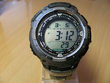 CASIO Pathfinder Atomic Solar Titanium Triple Sensor Men's Watch PAW-1100T 3043