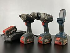Bosch 18V Impact Driver and Combi Drill Set with 4 Batteries & Torch