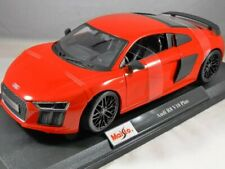 Red  Audi R8 V10 Plus Black Rim Maisto 1:18 Special Edition Diecast Car Last One