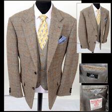 HARRIS TWEED Walbusch 44L Mens Tailored Hacking Wedding Country Jacket Blazer